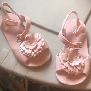 Other - Pink sandals so cute Velcro to close super cute
